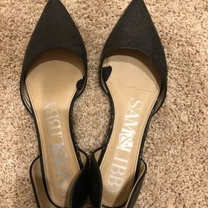 Sam and Libby Black Pointed Toe Flats